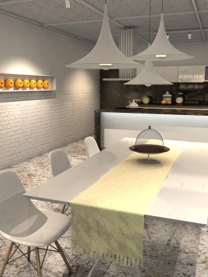 Maquete 3d Arquitetura Cozinha