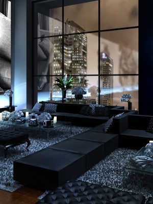 Maquete 3d Evento Lounge
