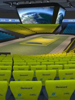 Cenografia 3d  - Estádio 3d