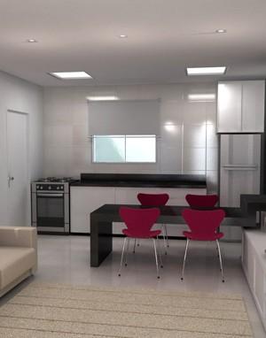 Maquete 3d - Apartamento Sala - Arquitetura