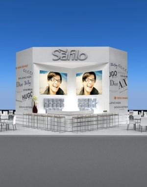 Maquete 3d - Stand Safilo