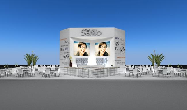 Maquete 3d – Stand Safilo