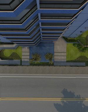Maquete 3d - Fachada Edifício