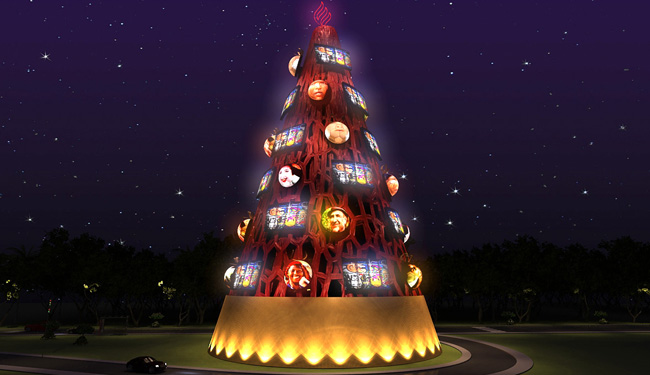 Árvore de Natal – 3d – ibirapuera