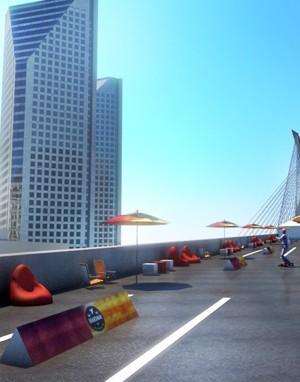 Projeto 3d - Maquete - Ponte Estaiada