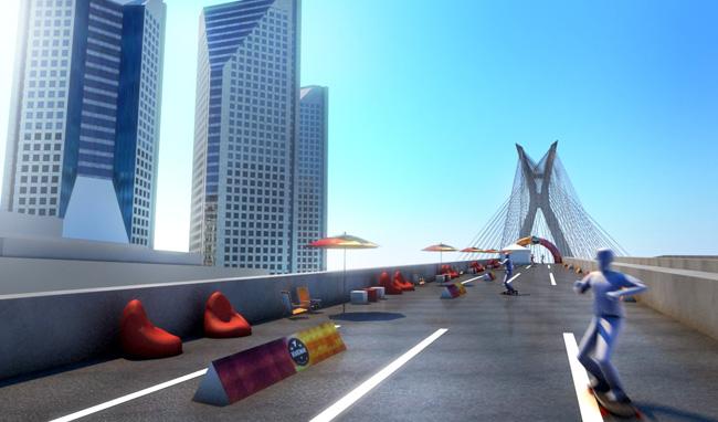 Projeto 3d – Maquete – Ponte Estaiada