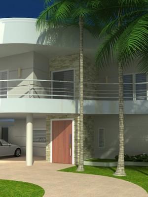 Arquitetura 3d - Fachada 3d
