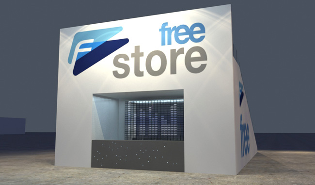 Maquete 3d – Free Store