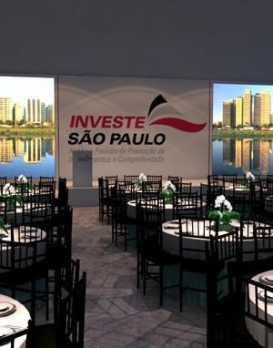 Maquete 3d - Evento Investe SP