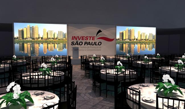 Maquete 3d – Evento Investe SP