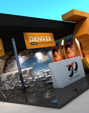 Maquete 3d- Stand Denver