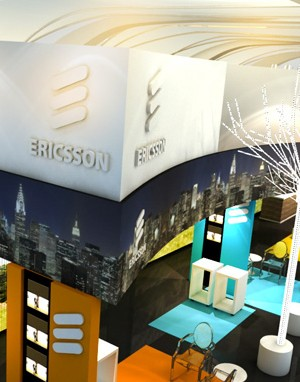 Maquete 3d - Stand Ericsson