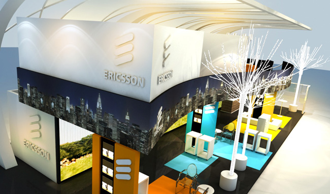 Maquete 3d – Stand Ericsson