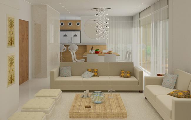 3d arquitetura – Sala – Apartamento