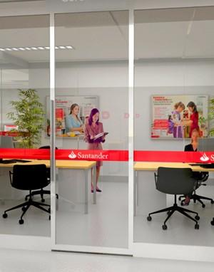 Maquete 3d - Agência Santander