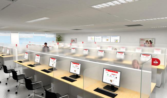 Arquitetura 3d- Office Santander