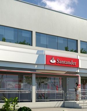 Fachada 3d- Banco Santander