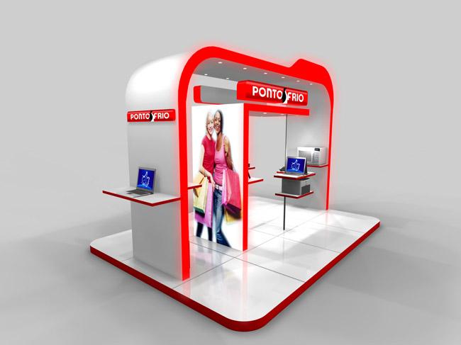 Maquete Eletrônica 3d- Stand 3d