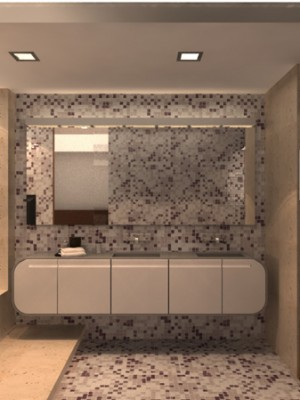 Maquete 3d - Banheiro