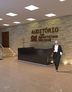 3d -Arquitetura - Auditório- Recepção