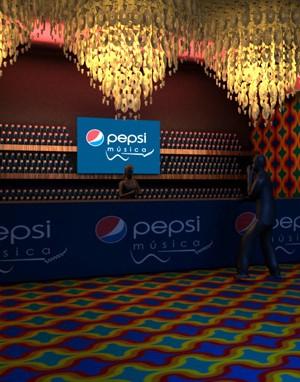 Cenografia 3d - Pepsi Hot