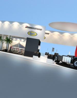 Stand 3d - Bridgestone - Maquete