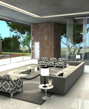 Sala Estar 3d maquete