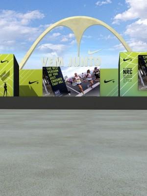 Maquete 3d  - Projeto Nike