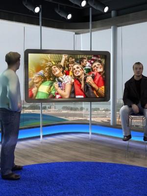 Maquete 3d - Cenário TV